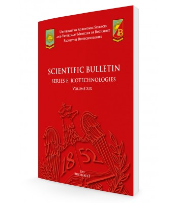 Scientific Papers. Series F. Biotechnologies